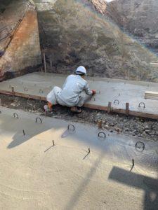 コンクリート基盤工事