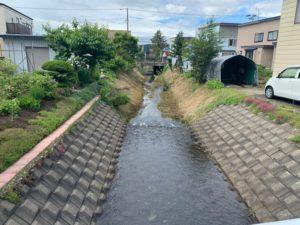 河川整備工事完了